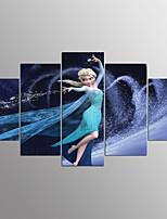 Impresiones en Lienzo Estirado Caricatura Modern,Cinco Paneles Lienzos Cualquier Forma lámina Decoración de pared For Decoración hogareña