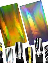 2pcs/set Fashion Nail Art Beauty Design Laser Gold&Silver Nail Art Line Nail DIY Stripe Line Foils Stickers Foil Stripping Tape Decoration