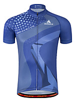 Cycling Jersey Short Sleeve Bike Jersey Quick Dry Reflective Strips Sweat-wicking Lightweight Materials PolyesterSpring Summer