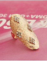 Ring Geometric Euramerican Rhinestone Zinc Alloy Jewelry For Wedding Party Special Occasion 1pc