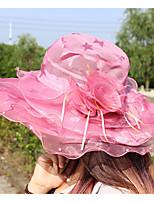 Damen Niedlich Freizeit Frühling Sommer Netz Polyester Fischerhut Sonnenhut