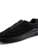 Unisex Sneakers Spring Summer Comfort PU Outdoor Athletic Casual Flat Heel Lace-up Red Black White EU Size 36-44