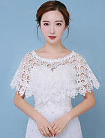 Women's Wrap Ponchos Cotton Wedding Lace