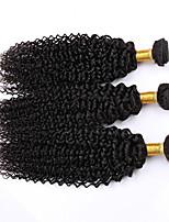 Cabelo Humano Ondulado Cabelo Peruviano Kinky Curly 12 meses 3 Peças tece cabelo