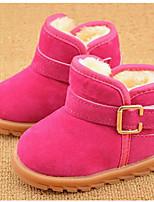 Черный Коричневый Красный-Девочки-Повседневный-Полиуретан-На плоской подошве-Удобная обувь-Ботинки