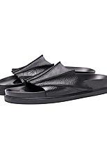 Herren-Slippers & Flip-Flops-Lässig-PUKomfort-Weiß Schwarz
