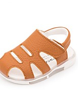 Boys' Sandals Summer Light Up Shoes Cowhide Casual Flat Heel