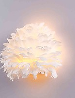 Feather Wall Lights  1 LightsModern/Contemporary Bedroom Hotel Wall Sconces  E26/E27