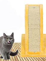 Cat Toy Pet Toys Interactive Scratch Pad Durable Plastic Yellow