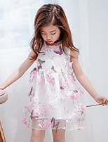Girl's Going out Casual/Daily Print Dress,Polyester Summer Sleeveless