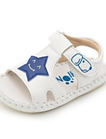 Boys' Sandals Summer First Walkers Leatherette Casual Flat Heel Blue White