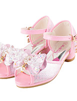 -Девочки-Свадьба Повседневный Для вечеринки / ужина Для праздника-Дерматин-На плоской подошве-Обувь для девочек Удобная обувь