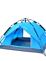 3-4 persons Tent Double Automatic Tent One Room Camping Tent 2000-3000 mm Fiberglass OxfordMoistureproof/Moisture Permeability Waterproof