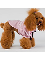 Dog Shirt / T-Shirt Dog Clothes Spring/Fall Plaid/Check Cute Fashion Casual/Daily Light Green Blushing Pink Yellow