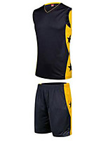 Herrn Unisex Ärmellos Basketball Trikot + Shorts/Radtrikot+Kurze Radhose Baggy Shorts Atmungsaktiv Purpur Gelb Violett Grün Schwarz/Weiß