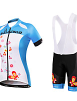 Cycling Jersey with Bib Shorts Women's Short Sleeve Bike Jersey Bib Tights Clothing SuitsQuick Dry Anatomic Design Moisture Permeability