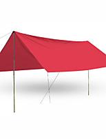 3-4 personnes Tente Unique Tentes Familiales Une pièce Tente de camping 2000-3000 mm Fer Oxford Résistant à l'humidité Etanche-Plage