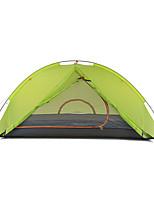 2 человека Световой тент Двойная Складной тент Однокомнатная Палатка Алюминий Нейлон Силикон Складной Переносной-Походы На открытом