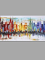 New York City Night Scenery Picture Canvas Handpainted Oil Painting American Wall Art With Stretched Frame Ready to Hang