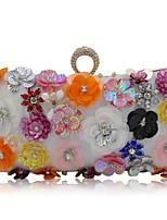L.WEST Woman Fashion Luxury High-grade Diamdons Flower Evening Bag