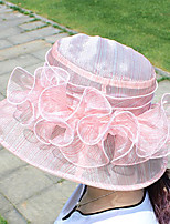 Womens Fashion Handmade Artificial Flower Mesh Floral Summer Or Spring Simple Sun Heart Print Bucket Hats Caps