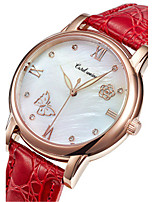 Women's Fashion Watch Quartz Leather Band Red Pink