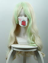 Small Witch Academy Diana Carwin Dish Rice White Light Green Long Curly Heat Resistant Fiber