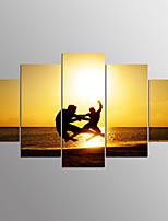 Gestreckte Leinwanddruck Menschen modern, fünf Tafeln Leinwand jede Form drucken Wanddekor für Hausdekoration