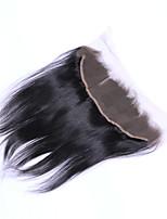 16inch braizlian fermeture frontale en dentelle droite meilleures fermetures de cheveux humains vierges fermeture sans brazilian / milieu