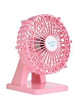 New USB Charger Mini Fan Happy Ferris Wheel Desktop Small Fan Fan Aroma Beauty Mute Smart Small Fan