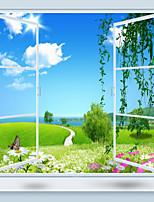 Bäume/Blätter 3D Tapete Für Privatanwender Zeitgenössisch Wandverkleidung , Leinwand Stoff Klebstoff erforderlich Wandgemälde ,