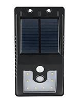 1pcs à l'extérieur solaire alimenté 10 smd leds capteur de mouvement applique murale lampe de jardin