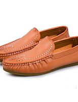 Для мужчин Мокасины и Свитер Удобная обувь Светодиодные подошвы Свиная кожа Весна Лето Для прогулок Повседневный Для прогулокНа плоской
