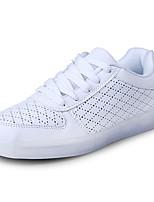 Men's Sneakers Spring Fall Comfort PU Outdoor Flat Heel Lace-up