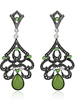 Women's Earrings Set Basic Vintage Emerald Alloy Jewelry For Party Gift Evening Party Date Club