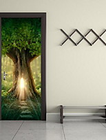 Door Stickers Botanical Wall Stickers 3D Wall Stickers Decorative Wall StickersVinyl Material Home Decoration Wall Decal