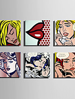 Pessoas Moderno Clássico,1 Painel Quadrangular Impressão artística Decoração de Parede For Decoração para casa
