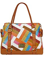 Women Bags All Seasons Cowhide Shoulder Bag with for Casual Formal Office & Career Orange