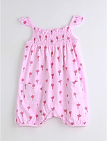 Baby Casual/Daily Print One-Pieces,Cotton Summer Sleeveless