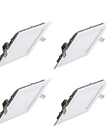 4pcs 9W Square LED Panel Light 45leds Warm/Cool White Color Recessed Panel Lighting Ultra thin Down Light for Hotel AC85-265V