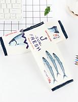 Fish Pattern PU Leather Stationery Bags