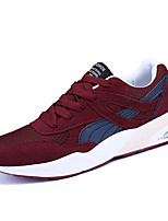Men's Sneakers Spring Fall Couple Shoes Tulle Casual Lace-up Red Gray Black