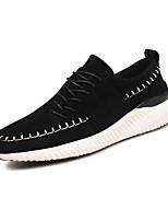 Черный Серый Коричневый-Для мужчин-Повседневный-ФлисУдобная обувь-Кеды
