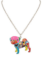 Women's Men's Pendant Necklaces Jewelry Animal Shape Chrome Unique Design Dangling Style Animal Design Handmade Simple Style Rainbow