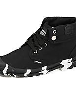 Черный Серый Желтый-Для мужчин-Повседневный-Полиуретан-На плоской подошве-Светодиодные подошвы-Спортивная обувь