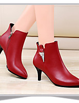 Women's Heels Spring Club Shoes PU Casual Red Black