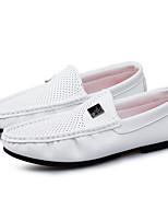 Белый-Для мужчин-Повседневный-ПолиуретанУдобная обувь Мокасины-Мокасины и Свитер