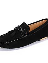 -Для мужчин-Для прогулок Для офиса Повседневный-Свиная кожа-На плоской подошве-Удобная обувь-Мокасины и Свитер