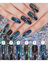 1 PC  Glitter Discoloration The Effect  Thick Slices Irregular The Angle In Traditional Powder 8 Color
