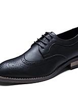 -Для мужчин-Свадьба Повседневный Для вечеринки / ужина-Дерматин-На плоской подошве-Баллок обувь Формальная обувь-Туфли на шнуровке